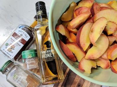 Add bourbon, vanilla, cinnamon and a tiny sprinkle of nutmeg, to taste.