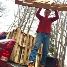 Pallets are a must-have on the farm.