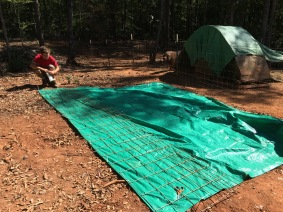 Quick and easy single hog panel shelter.
